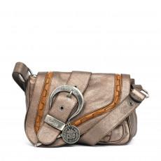 Dior Bronze Leather Mini Gaucho Saddle Shoulder Bag (03)