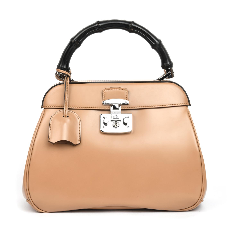 a5e0e9153383 Gucci Lady Lock Leather Medium Top Handle Bag - LabelCentric