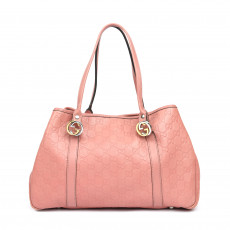 Gucci Pink Guccissima GG Twins Medium Tote (01)