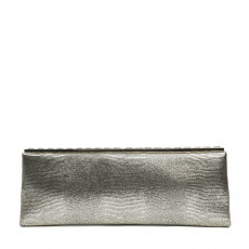Jimmy Choo Ciggy Metallic Leather Clutch (01)