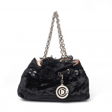 Dior Black Velvet Handle Bag (01)
