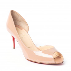 Christian Louboutin Demi You Half d'Orsay Peep-Toe Pumps (01)