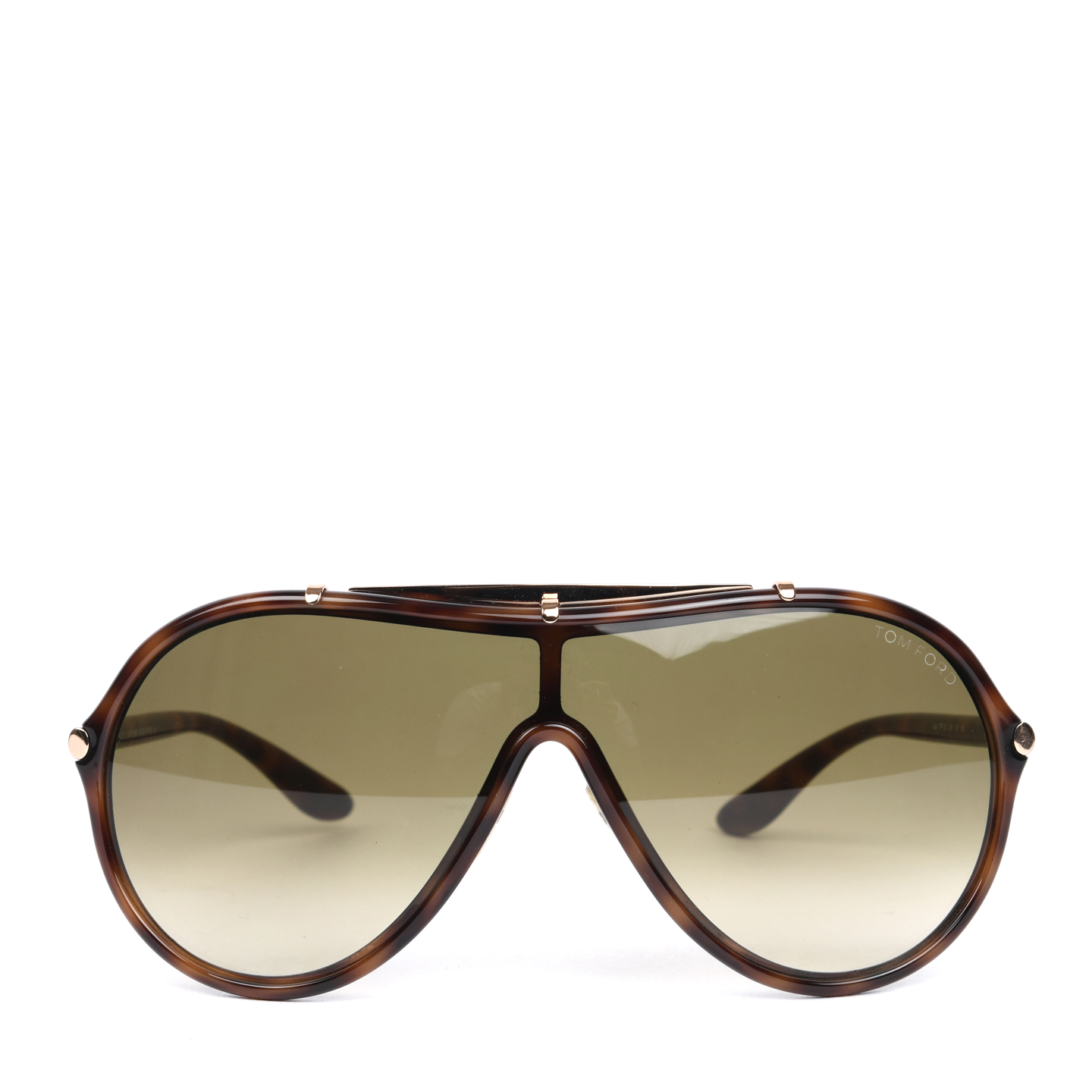 Tom Ford Havana Ace Shield Sunglasses - TF 152 (01)