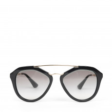 Prada Cinema Black Aviator Sunglasses - SPR 12Q (01)