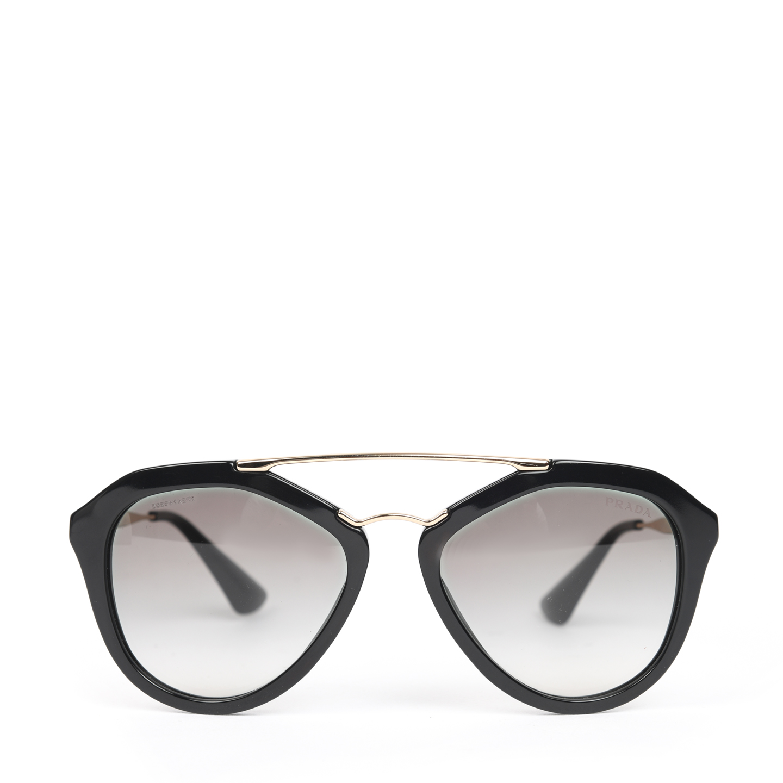 Prada Cinema Black Aviator Sunglasses - SPR 12Q (01)