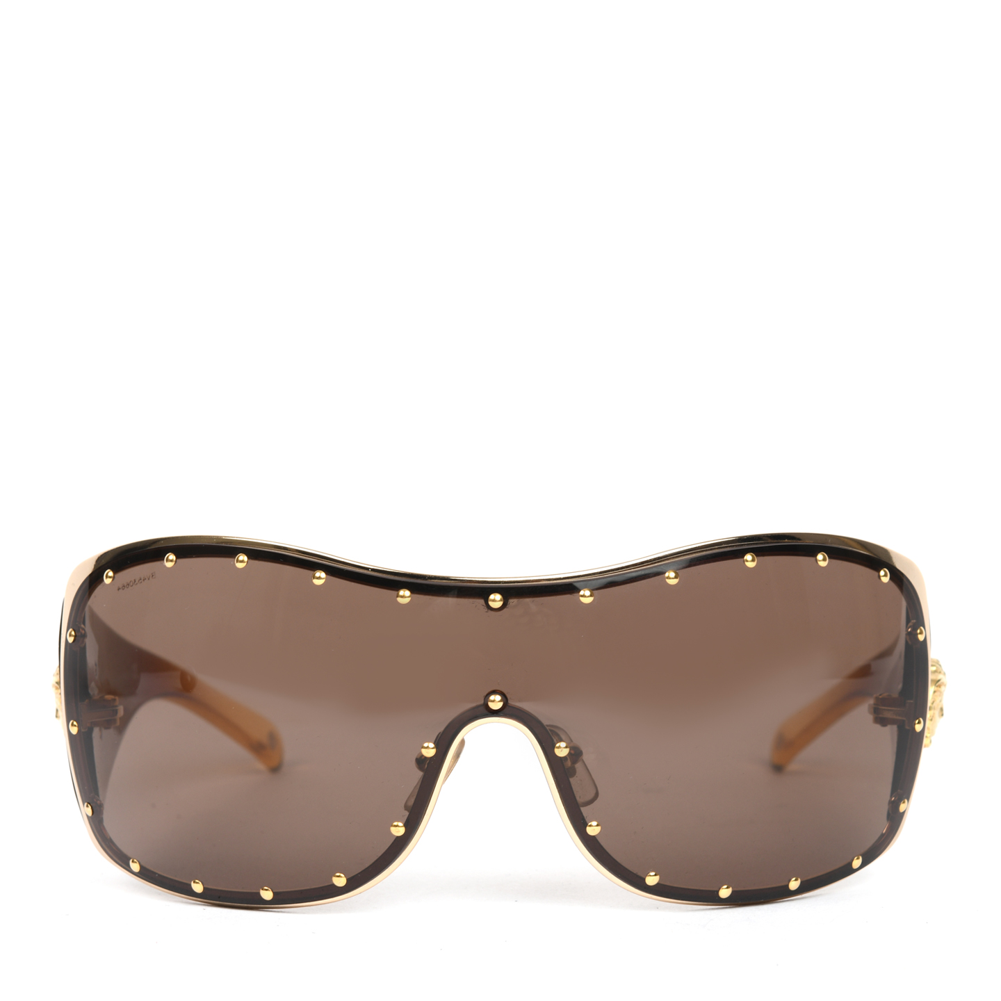 Versace Brown/Gold Shield Sunglasses MOD 2129-B (01)