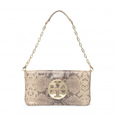 Tory Burch Bombe Reva Snake Embossed Leather Clutch 01