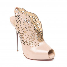 Chrisitian Louboutin Beige Patent Leather Markesling Laser Cut Pumps 01