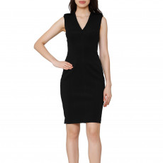 Burberry Sleeveless V Neck Dress 01