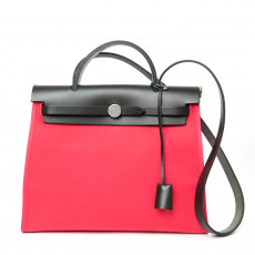 Hermes Canvas and Leather Herbag Zip PM Bag 01