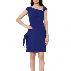 Valentino Blue Virgin Wool Sheath Dress (01)