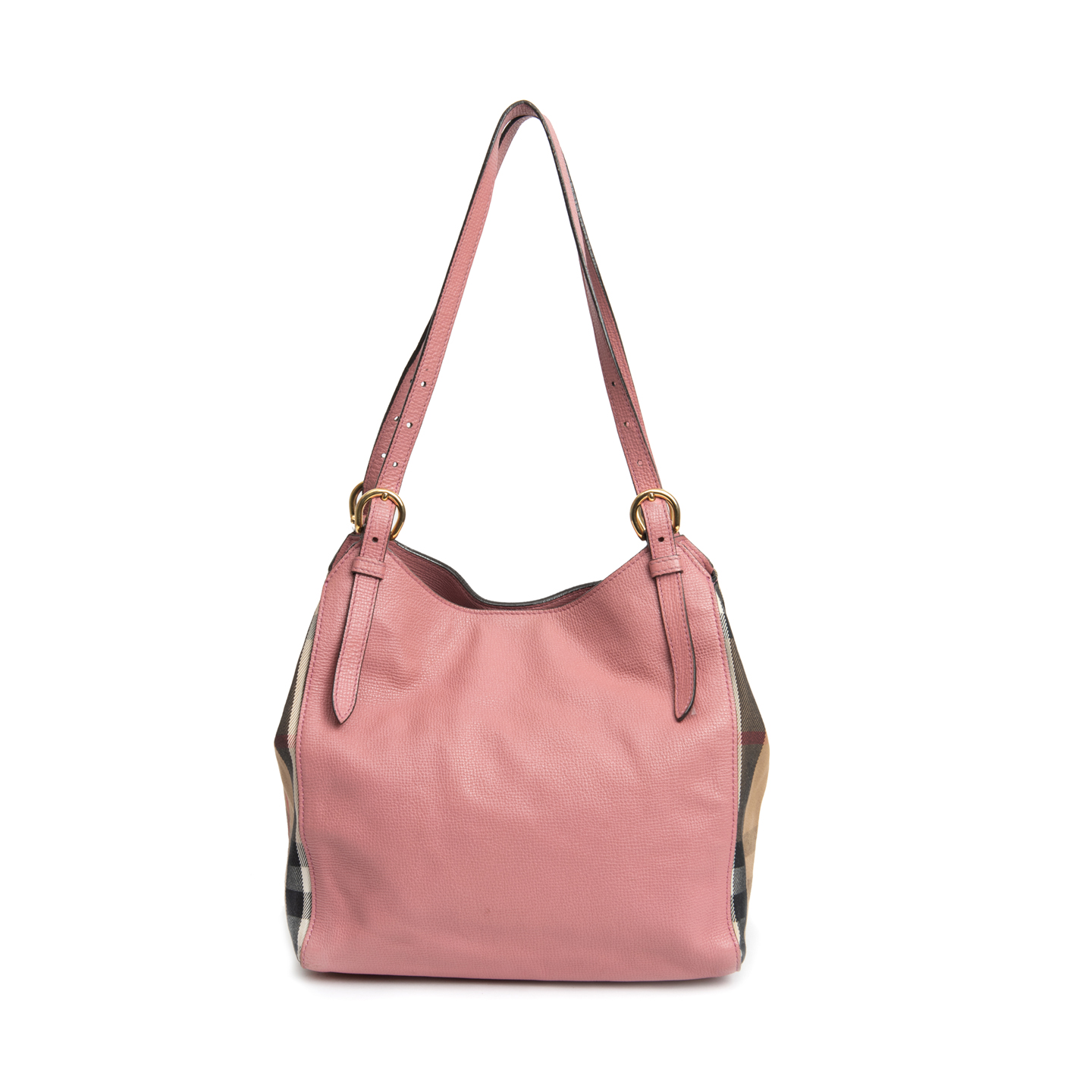d22d89391de Burberry Pale Orchid Leather and House Check Small Canter Bag 01 ...
