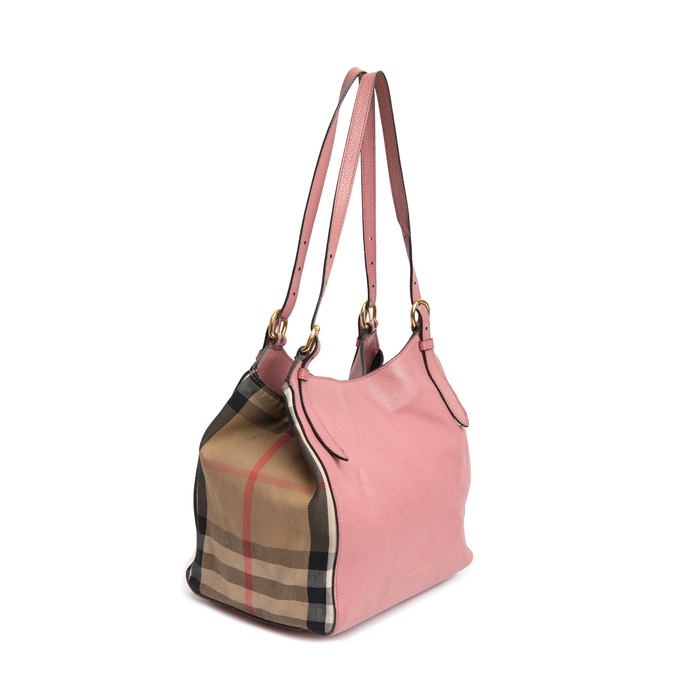 e6af8e055777 ... Burberry Pale Orchid Leather and House Check Small Canter Bag 02 ...