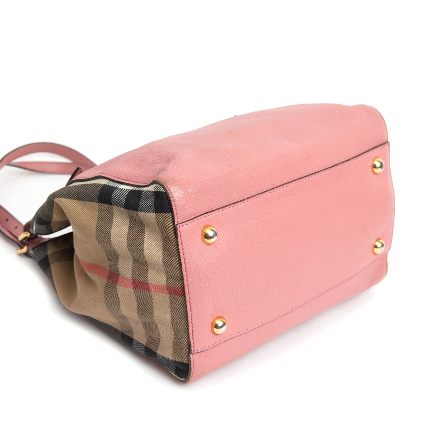 baacbf6f27b ... Burberry Pale Orchid Leather and House Check Small Canter Bag 04 ...