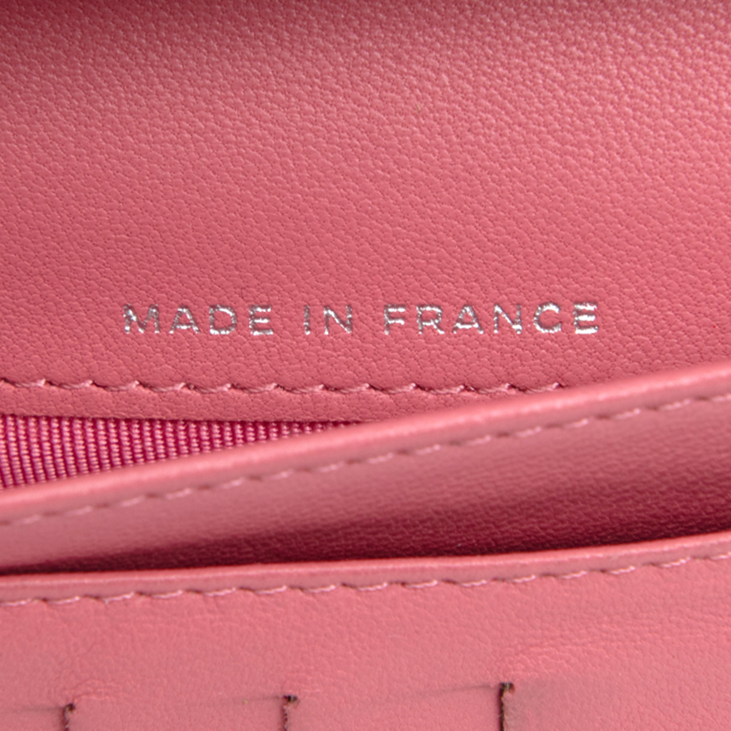 61eaa4b26568dd Chanel Pink Quilted Lambskin Leather L Yen Wallet - LabelCentric