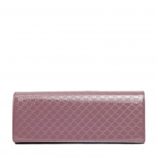 Gucci Micro-Guccissima Patent Leather Broadway Clutch Bag