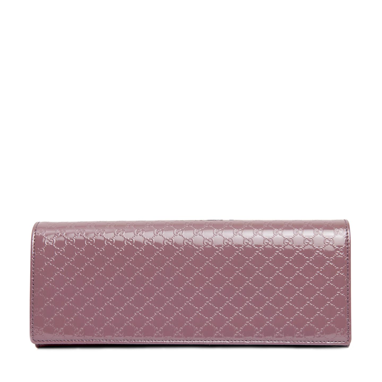 Gucci Micro-Guccissima Patent Leather Broadway Clutch Bag