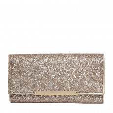 Jimmy Choo Antique Gold Coarse Glitter Clutch Bag