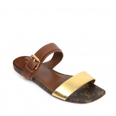 Louis Vuitton Golden Bloom Flat Sandals 01