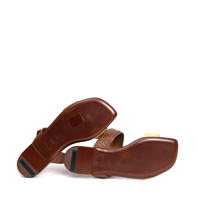 945555ed8163 ... Louis Vuitton Golden Bloom Flat Sandals 06