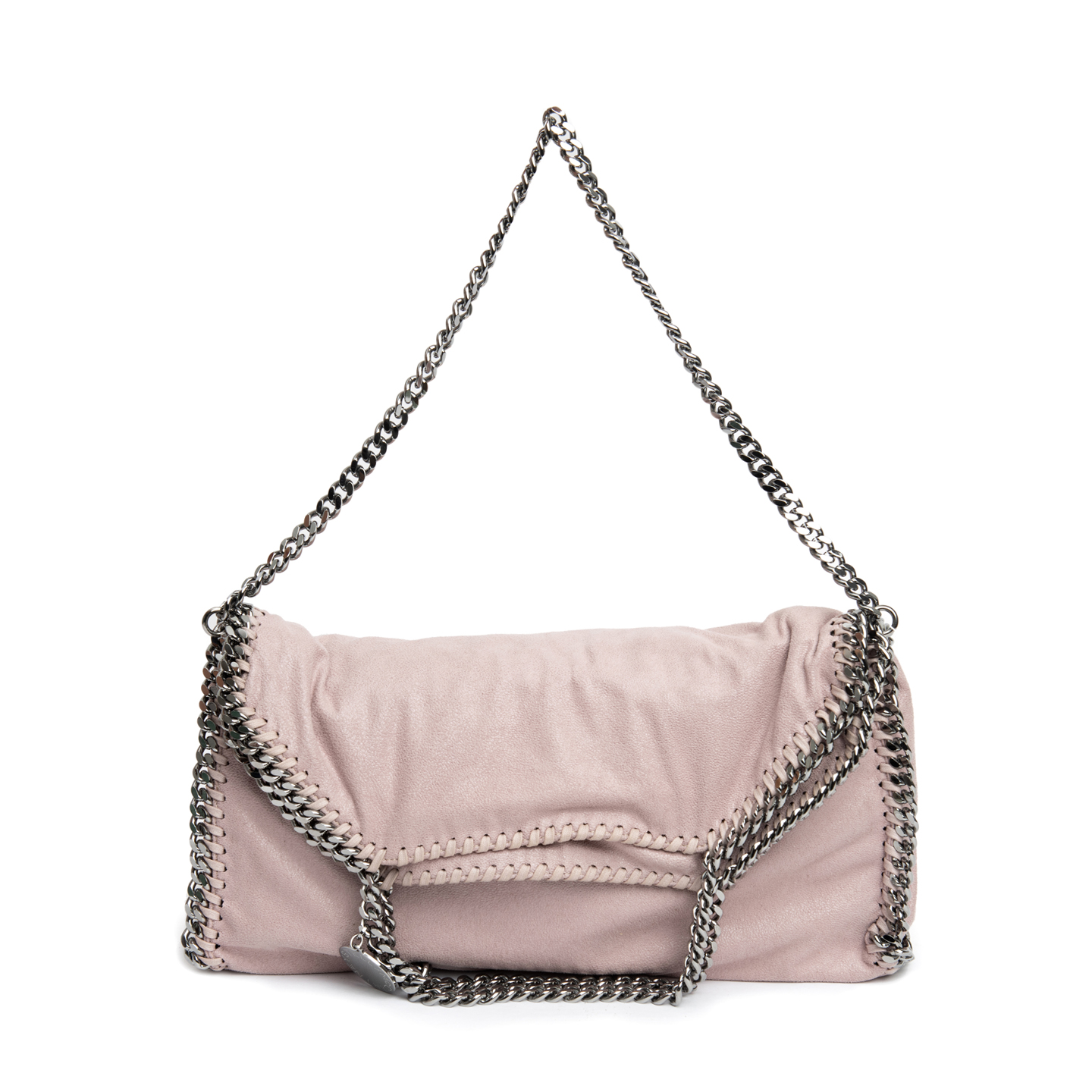 Stella McCartney Pink Faux Leather Falabella Fold-over
