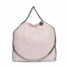 Stella McCartney Pink Faux Leather Falabella Fold-over Tote