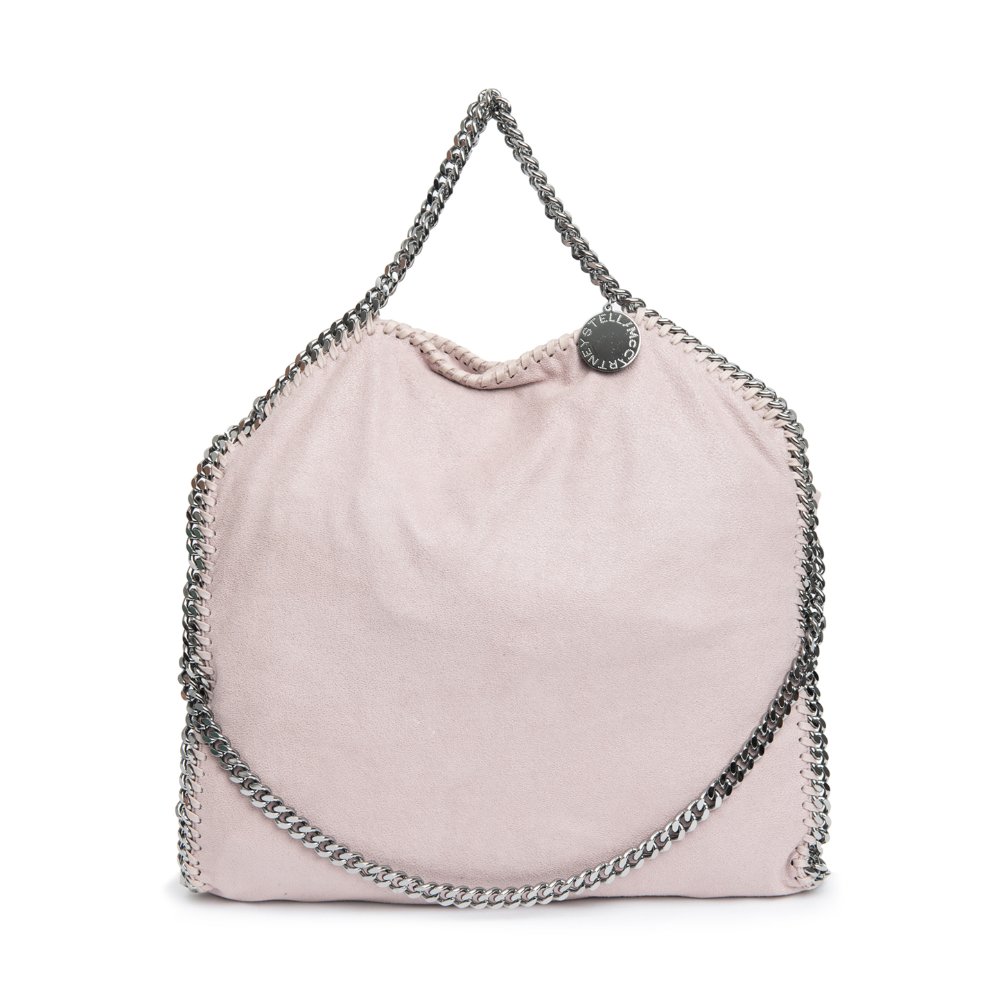 2b8e39d00510 Stella McCartney Pink Faux Leather Falabella Fold-over Tote ...