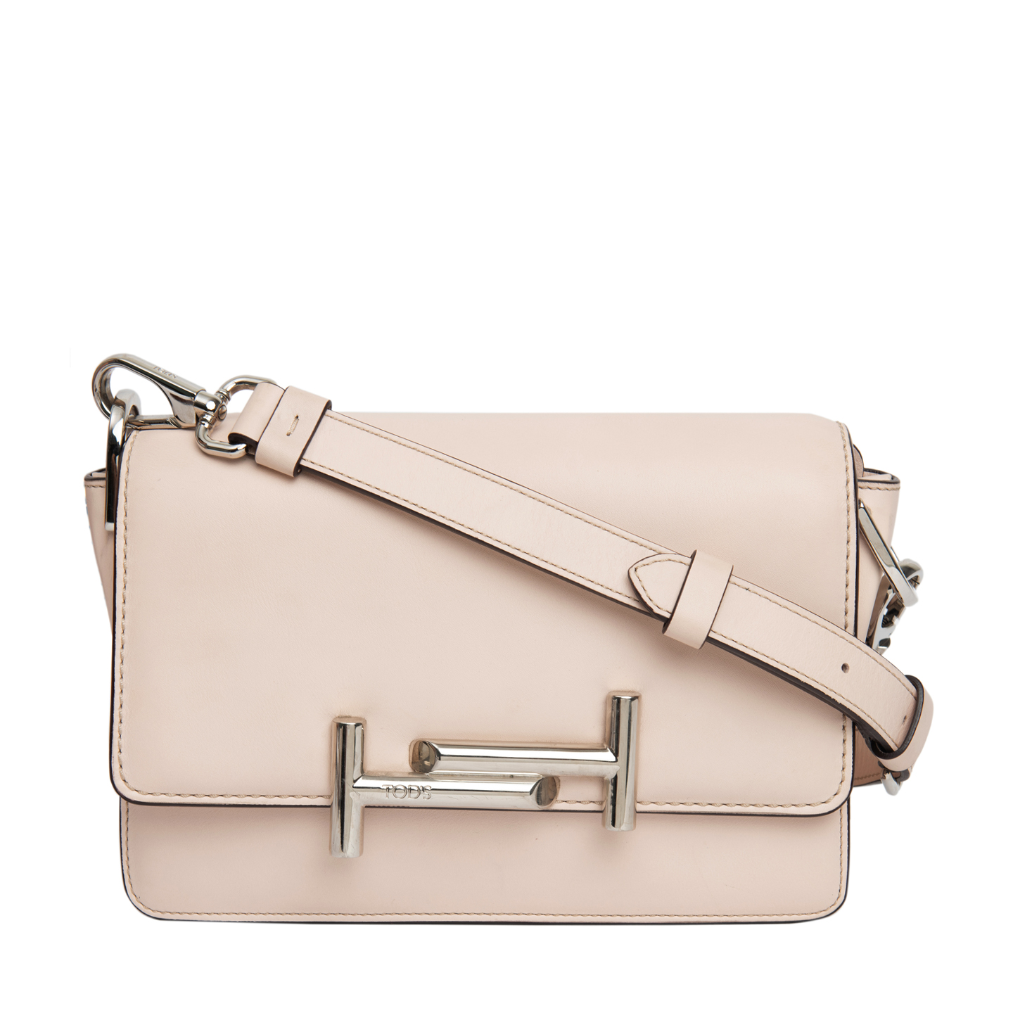 df13b9fa68c Tod's Blush Pink Mini Double T Crossbody Bag - LabelCentric