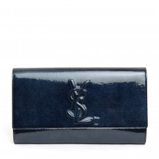 Yves Saint Laurent Dark Blue Belle De Jour Clutch
