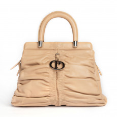 Christian Dior Beige Leather Karenina Medium Tote 01
