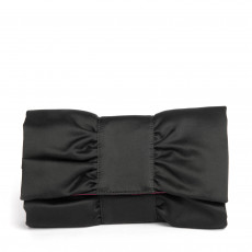 Furla Black Satin Bow Clutch 01