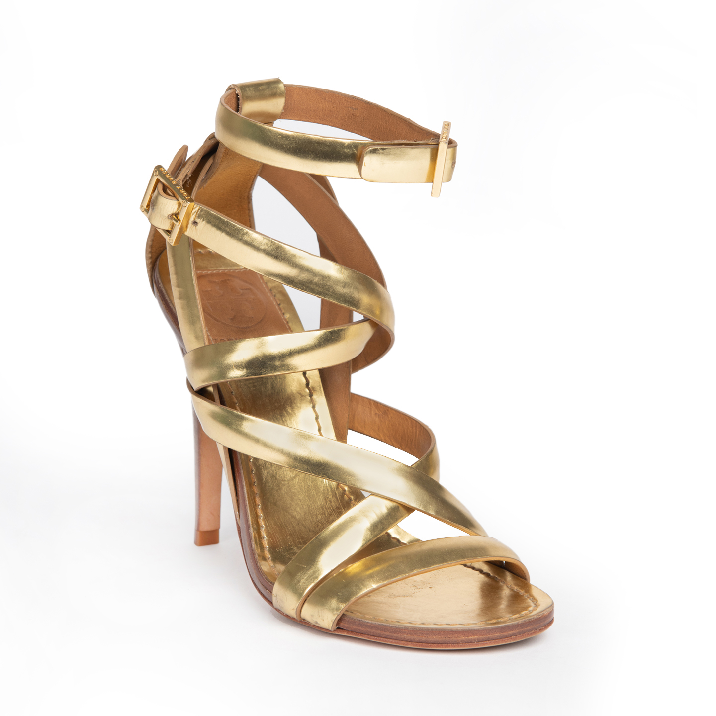 Tory Burch Mita Gold Strappy Sandals 01