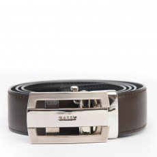 Bally Men's Brown Leather Belt 01