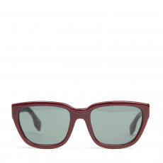 Burberry Bordeuax:Dark Green Lens Square Frame Sunglasses, BE4227F (01)