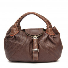 Fendi Brown Nappa Leather Spy Bag 01