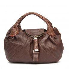 Fendi Brown Nappa Leather Spy Bag 01