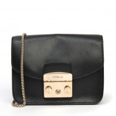Furla Mini Metropolis Crossbody Bag, Onyx