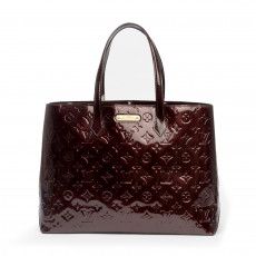Louis Vuitton Amarante Monogram Vernis Leather Wilshire MM Tote