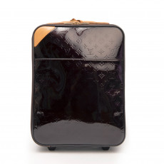 Louis Vuitton Amarante Monogram Vernis Pegase 45 Suitcase 01
