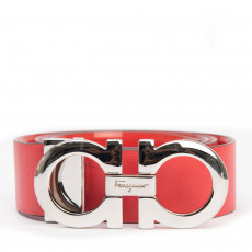 Salvatore Ferragamo Red Leather Belt 01