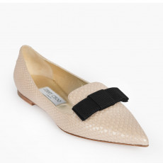 Jimmy Choo Gala Pearlised Leather Pointy Toe Flats 01
