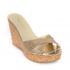 Jimmy Choo Suede Perfume Cork Wedges 01