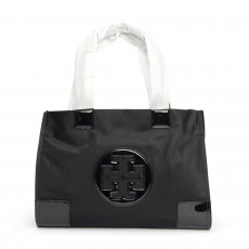 Tory Burch Black Ella Mini Nylon Tote 01