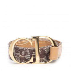 Dior Brown Diorissimo CD Buckle Belt 01