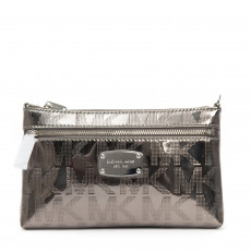 Michael Kors Jet Set Nickel Monogram Mirror Wristlet 01