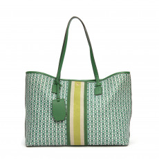 Tory Burch Gemini Link Canvas Tote, Green 01