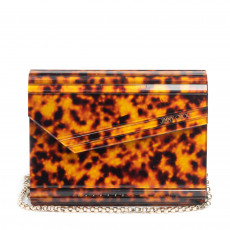 Jimmy Choo 'Candy' Clutch in Tortoise Print 03