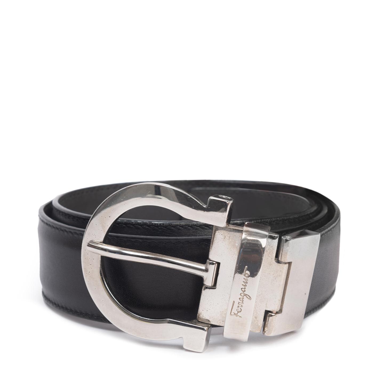 Salvatore Ferragamo Gancini Leather Belt 01