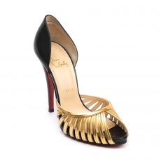 Christian Louboutin Corpus 100 Leather and Chain Pumps (01)