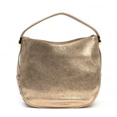 Furla Luna Gold Leather Hobo Bag (01)